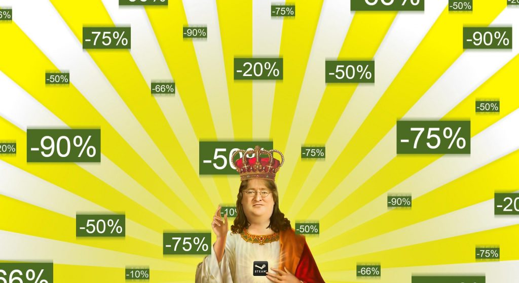 gaben patron saint of steam sales and patient gaming